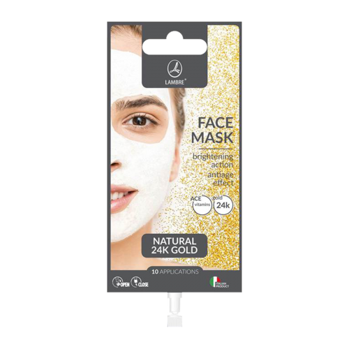 LAMBRE FACE CARE FACE MASK GOLD Маска для лица с золотом, 15 ml