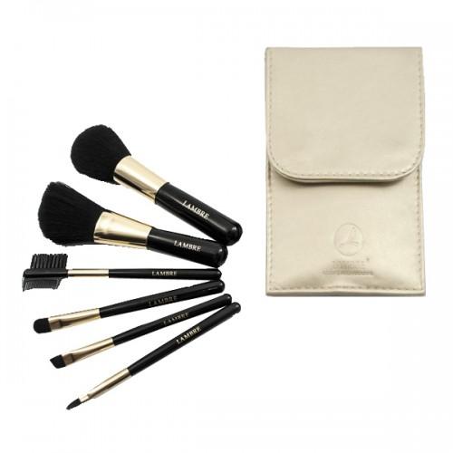 BRUSH SET Набор из 6 кистей для макияжа в золотом футляре
